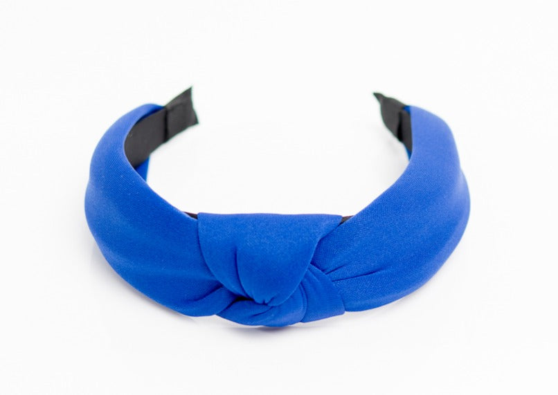 Electric Blue Top Knotted Headband