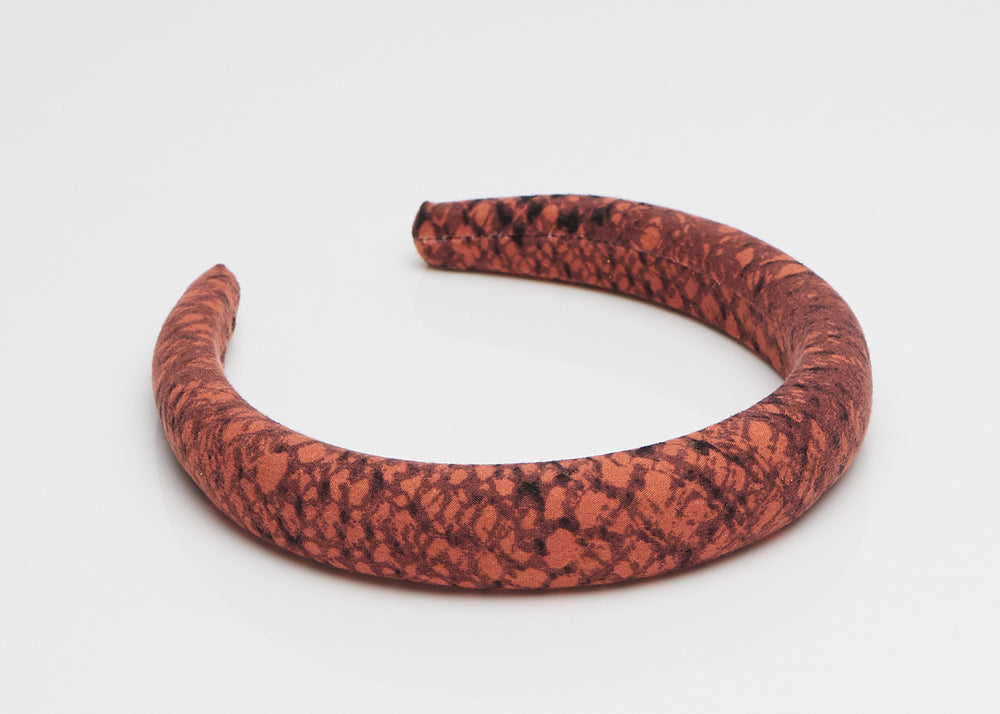 Red Snake Padded Headband