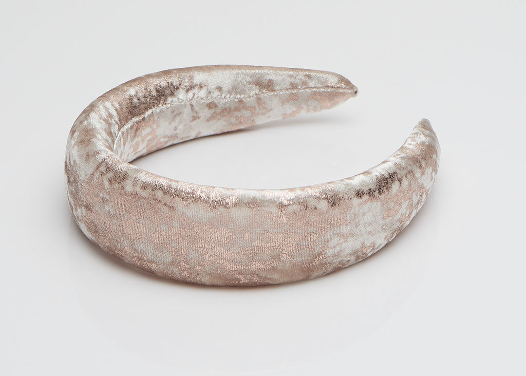Rose Velvet Padded Wide Headband