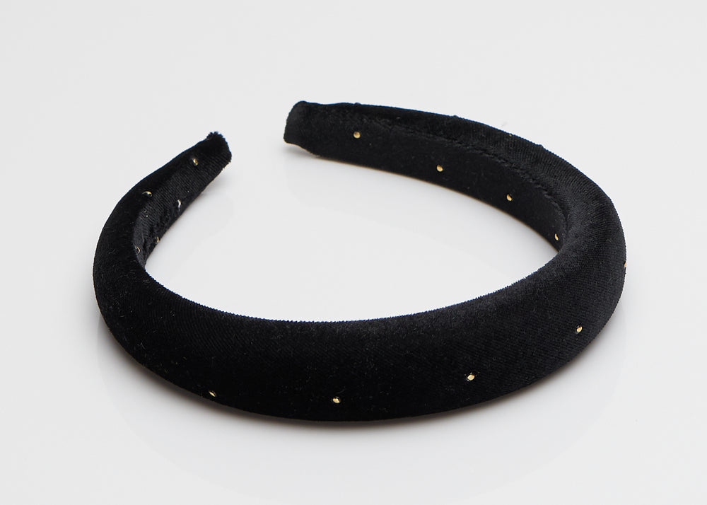 Black and Gold Padded Headband