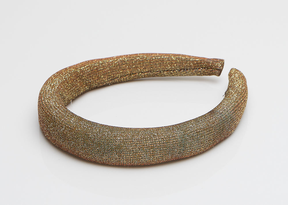 Gold Sparkle Padded Headband