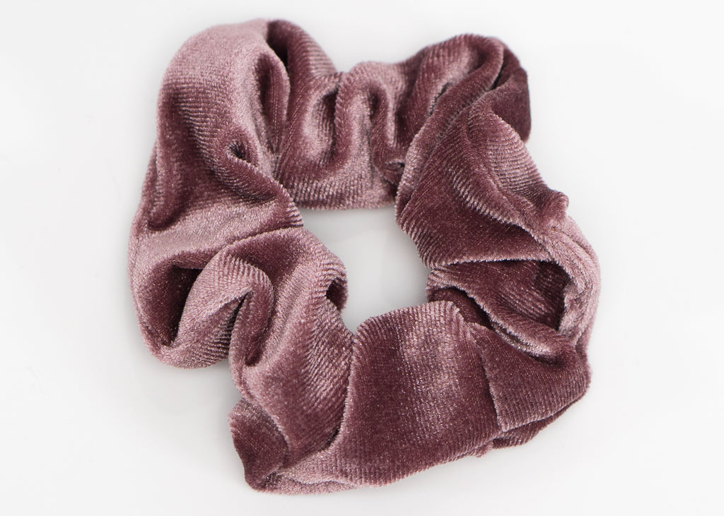 Green and Pink Velvet Scrunchy Set