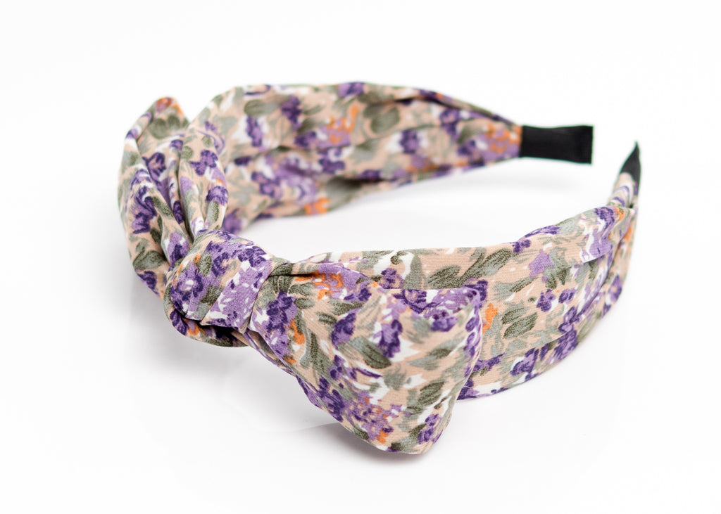 Purple Top Bow Headband