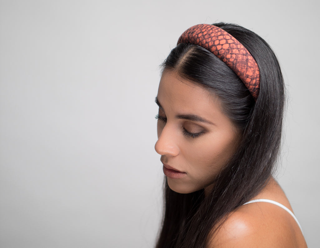 Red Snake Wide Padded Headband