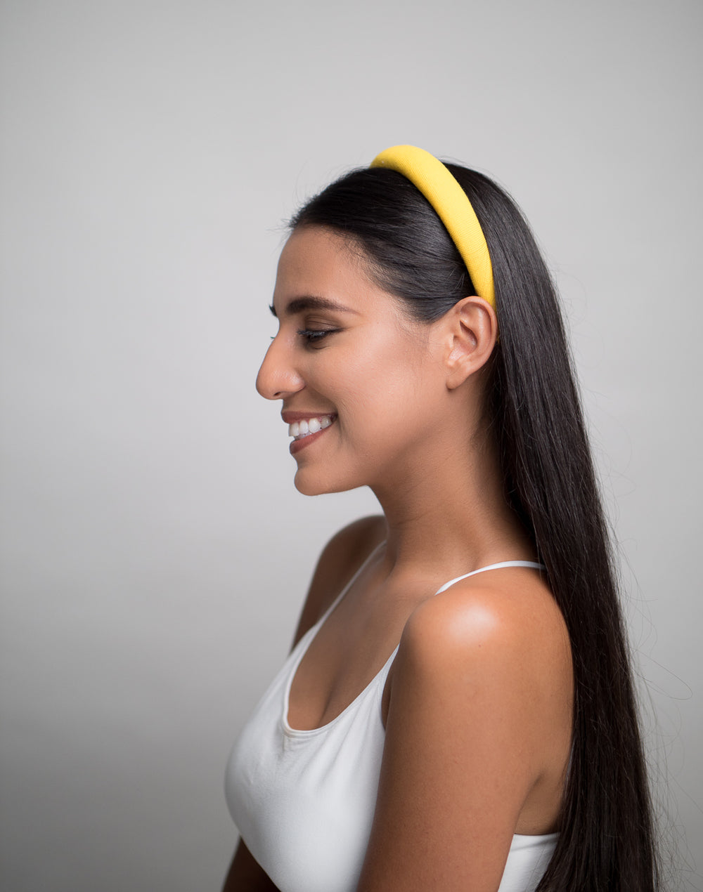 Bright Yellow Padded Headband