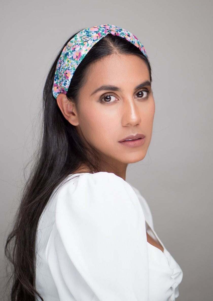 Twisted Floral Headband
