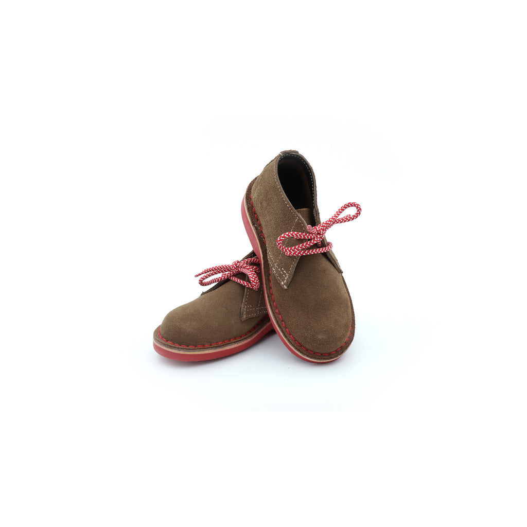 KIDS DESERT BOOT RED