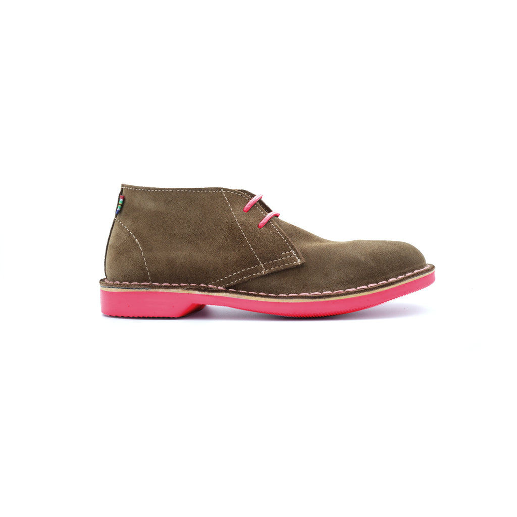 WOMEN'S DESERT BOOT UHAMBO HOT PINK