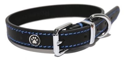 Luxury Leather Halsband Hond Leer Luxe Zwart 1,3x25-36 cm - Luxory Pets