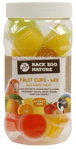 Back Zoo Nature Fruitkuipje Mix Papegaai 24 st - Luxory Pets