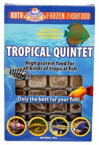 Ruto blue label tropical quintet 100 gr - Luxory Pets