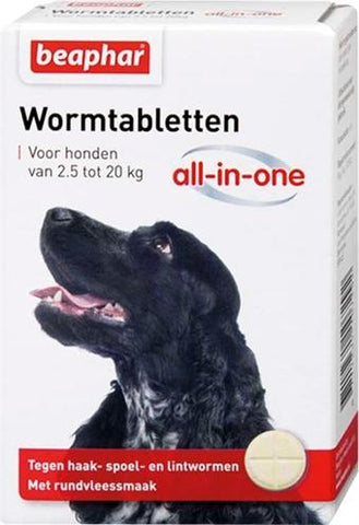Beaphar Wormtablet All-In-One Hond 2,5-20 kg 2 tbl - Luxory Pets