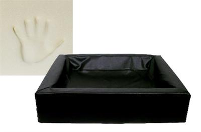 Bia Bed Hondenmand Ortho Zwart Bia-60 70x60x15 cm - Luxory Pets