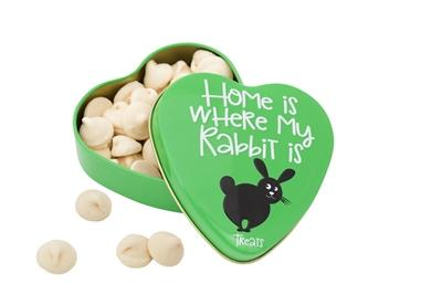 Sanal hartenblik home is where my rabbit is snoepjes 60 gr - Luxory Pets