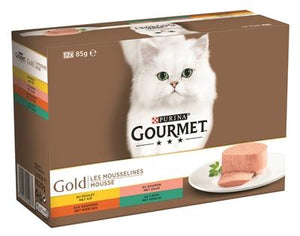 Gourmet gold 12-pack fijne mousse 12x85 gr - Luxory Pets