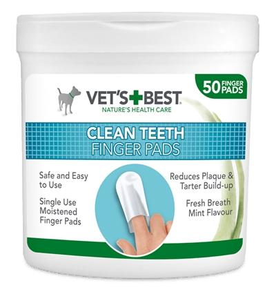 Vets Best Clean Teeth Finger Pads 50 st - Luxory Pets