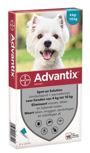 Bayer Advantix Spot On 100/500 4-10 kg - 4 Pipet - Luxory Pets