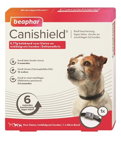 Beaphar Canishield Halsband Hond Klein/Middel 48 cm - Luxory Pets