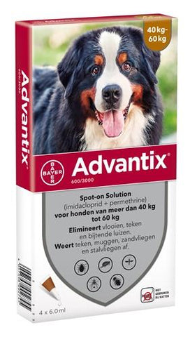 Bayer Advantix Spot On 600/3000 40+ kg - 4 Pipet - Luxory Pets