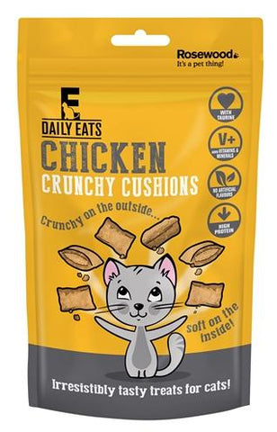 Rosewood leaps&bounds crunchy chicken cushions 60 gr - Luxory Pets