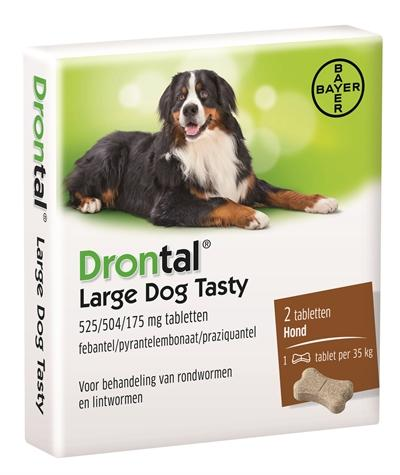 Bayer Drontal Ontworming L Tasty 2 tbl - Luxory Pets