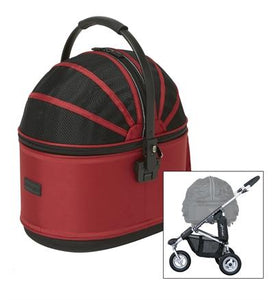 Airbuggy Hondenbuggy Cot S Plus Rood 96x58x99 cm - Luxory Pets
