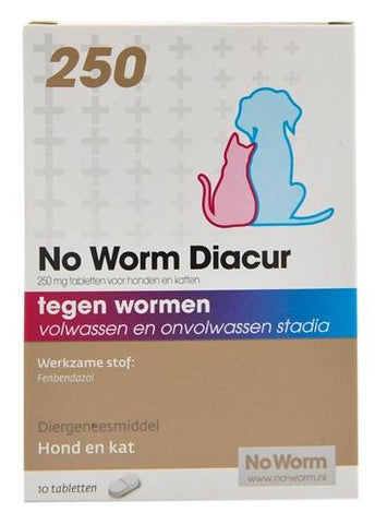 No Worm Diacur 250 mg 10 tbl - Luxory Pets