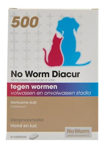 No Worm Diacur 500 mg 10 tbl - Luxory Pets