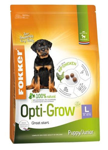 Fokker opti-grow puppy / junior large 13 kg - Luxory Pets