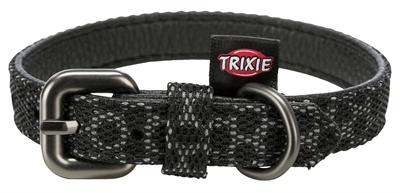 Trixie halsband hond night reflect zwart 22-30x1,5 cm - Luxory Pets