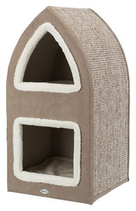 Trixie Krabpaal Cat Tower Marcy Bruin/Creme 38x38x75 cm  - Luxory Pets