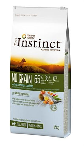 True Instinct No Grain Medium Junior Salmon 12 kg - Luxory Pets