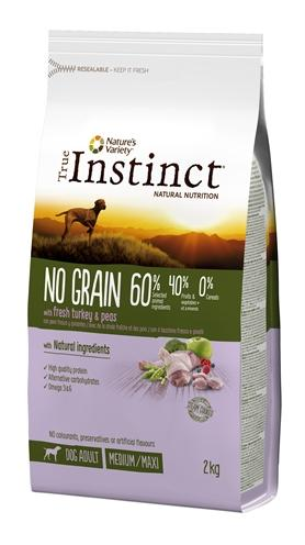 True instinct no grain medium adult turkey 2 kg - Luxory Pets
