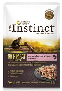 True instinct pouch high meat adult salmon fillets 70 gr - Luxory Pets