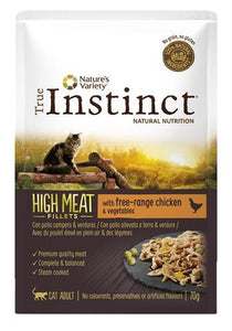 True instinct pouch high meat adult chicken fillets 70 gr - Luxory Pets