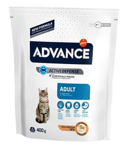 Advance cat adult chicken / rice 400 gr - Luxory Pets