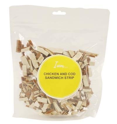 I am chicken and cod sandwich strip 400 gr - Luxory Pets