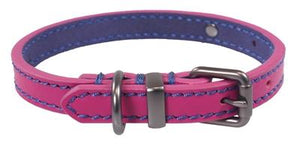 Joules halsband hond leer roze 56-66x3,8 cm - Luxory Pets