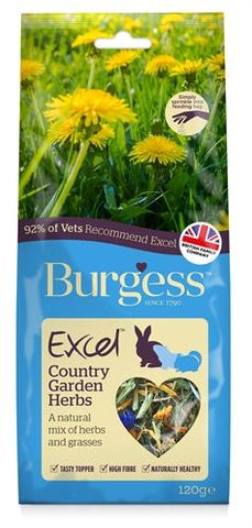 Burgess excel snacks country garden kruiden 120 gr - Luxory Pets