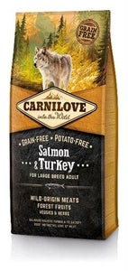 Carnilove salmon / turkey adult large breed 12 kg - Luxory Pets