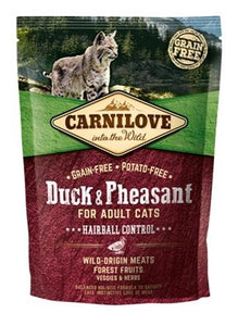 Carnilove duck / pheasant hairball 400 gr - Luxory Pets