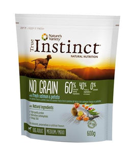 True instinct grain free adult medium salmon 600 gr - Luxory Pets
