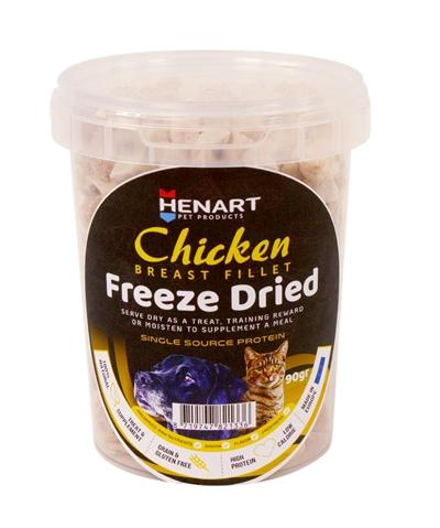 Henart freeze dried chickenbreast fillet - Luxory Pets