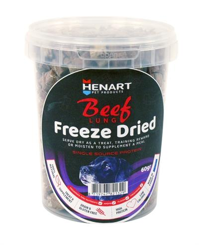 Henart freeze dried beef lung - Luxory Pets