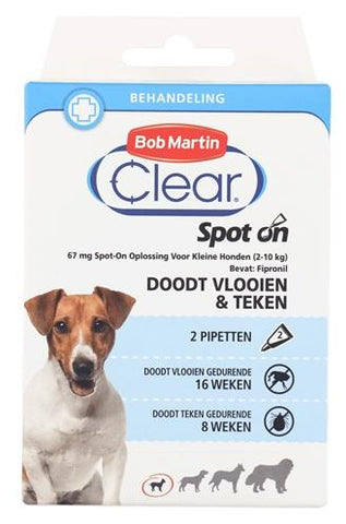 Bob martin clear spot on hond small - Luxory Pets