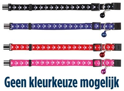 Trixie halsband kat print poot elastisch - Luxory Pets