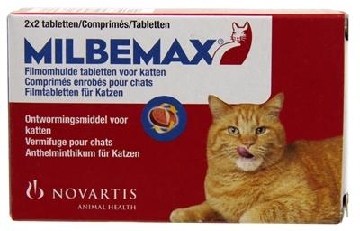 Milbemax Tablet Ontworming  Kat Large 2x2 tabl - Luxory Pets