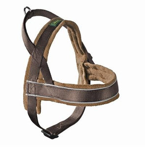 Hunter harnas norweger racing nylon bruin/cognac large 62-75x2,5 cm - Luxory Pets