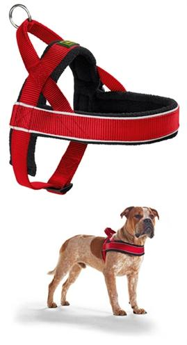 Hunter harnas norweger racing nylon rood/zwart medium 52-62x2,5 cm - Luxory Pets