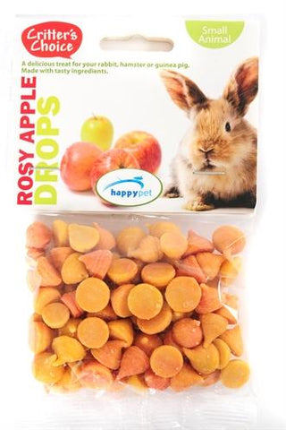 Critter's choice rosey apple drops 75 gr - Luxory Pets